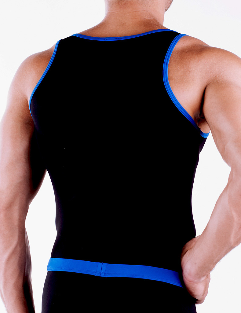 Micro-Basic Athletik Shirt black-blue