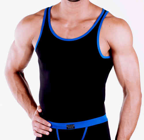 Micro-Basic Athletik Shirt black-blue