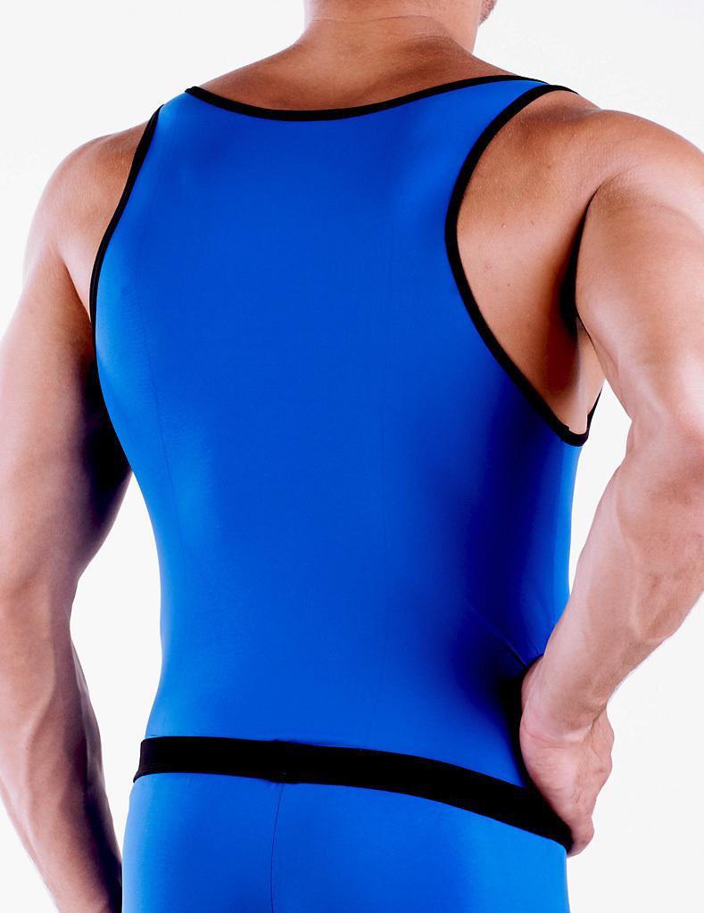 Micro-Basic Athletik Shirt blau-schwarz