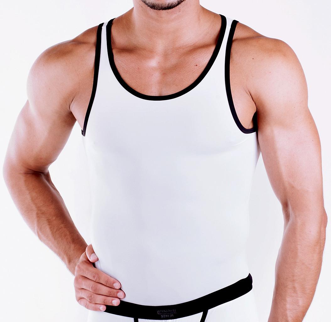 Micro-Basic Athletic Shirt white-black