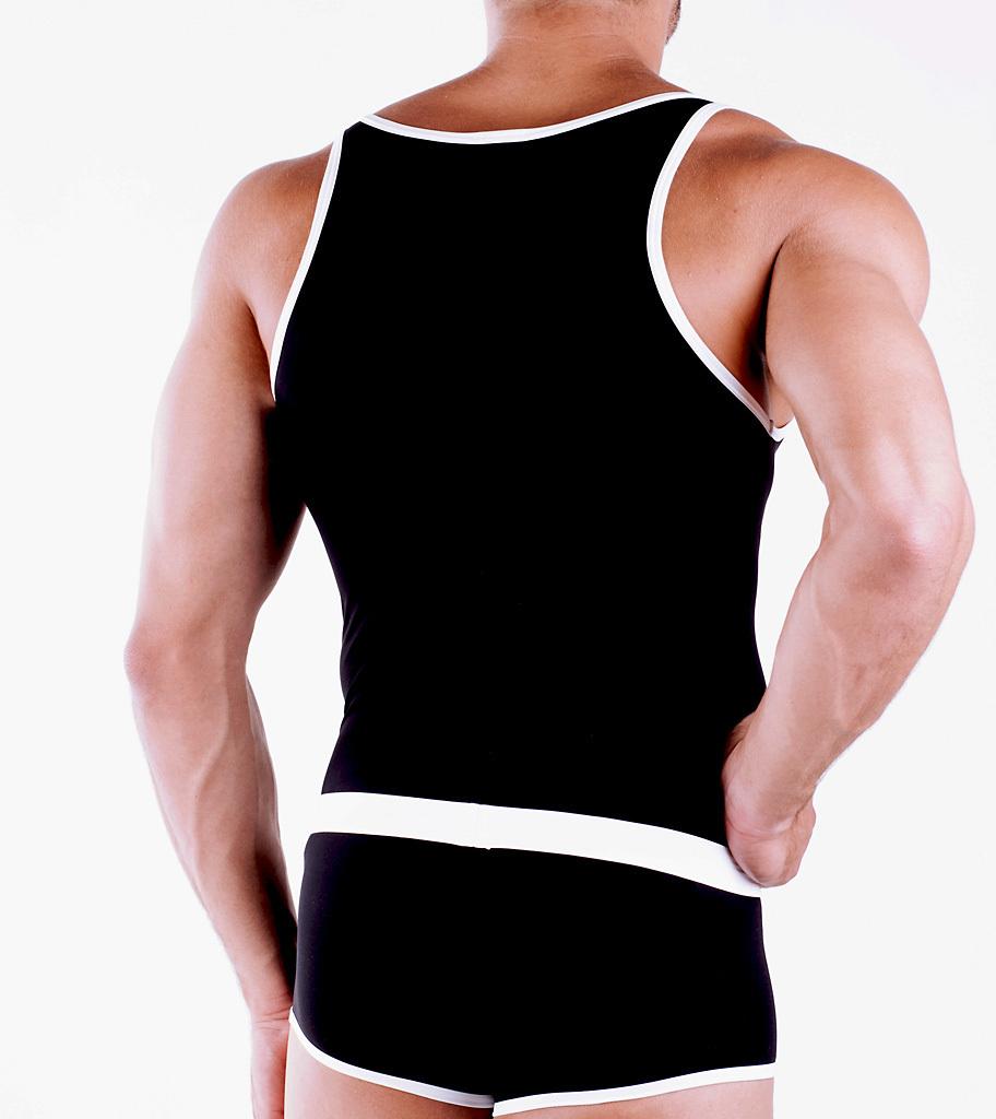 Micro-Basic Athletic Shirt schwarz-weiss