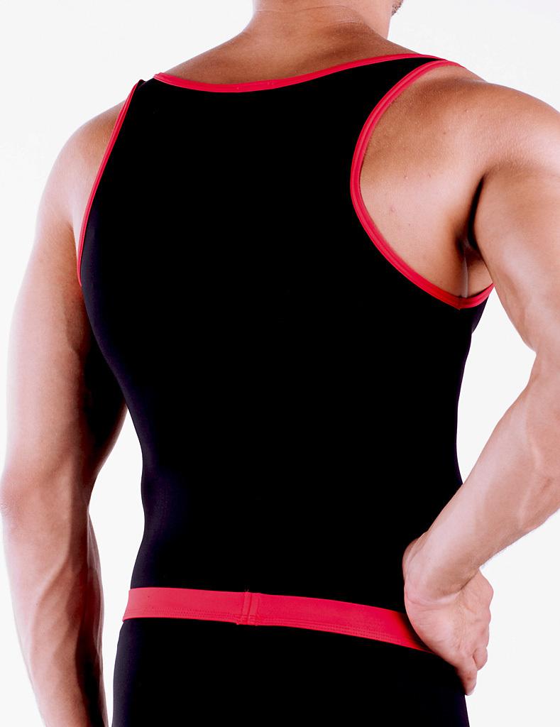 Micro-Basic Athletik Shirt black-red