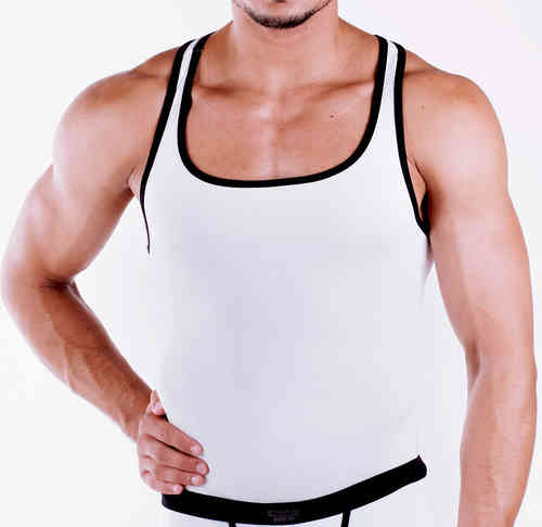Micro-Basic Muscle Shirt white-black