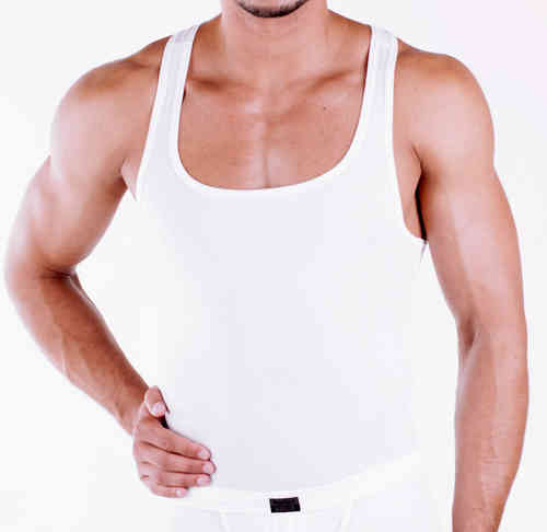 CottonRipp Muscle Shirt white