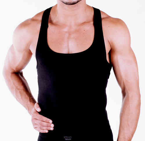 CottonRipp Muscle Shirt schwarz