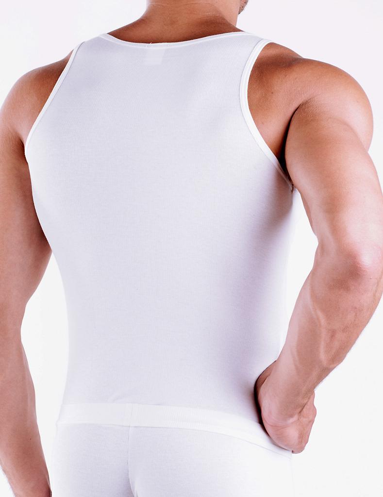 CottonRipp Athletic Shirt weiss
