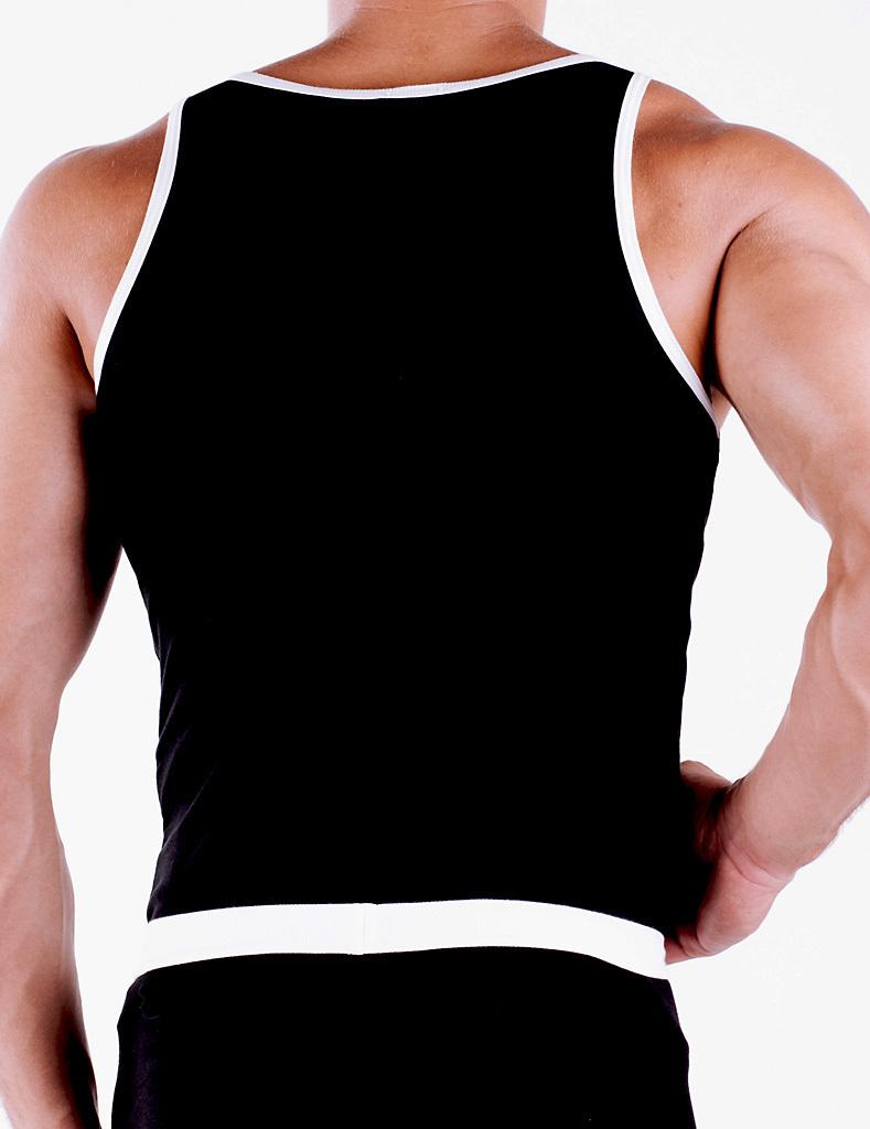 CottonRipp Athletic Shirt black-white