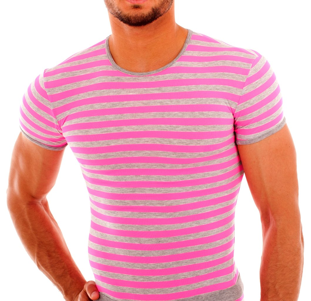 Stripes Shirt gray-pink