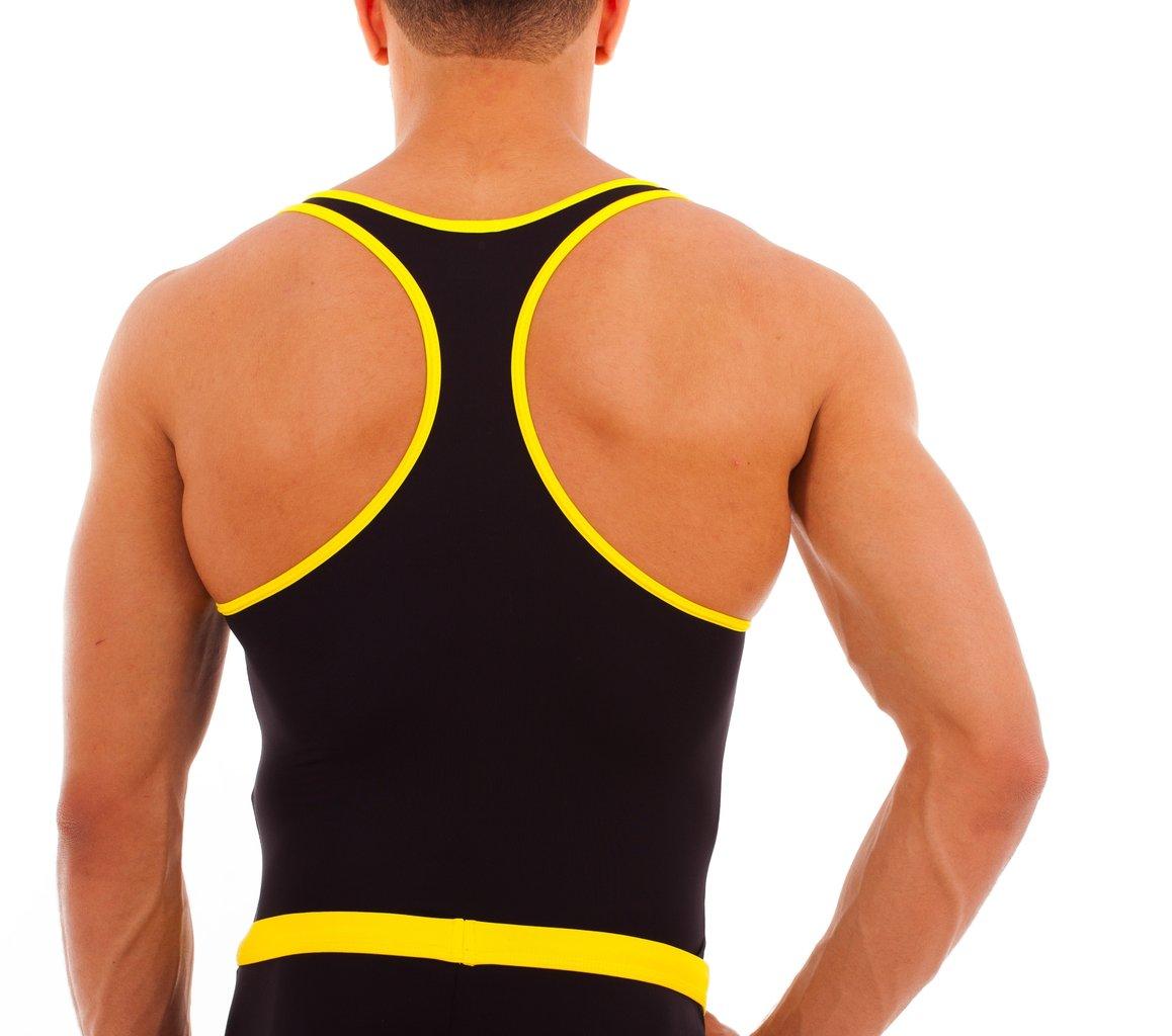Micro-Basic Muscle Shirt schwarz-gelb