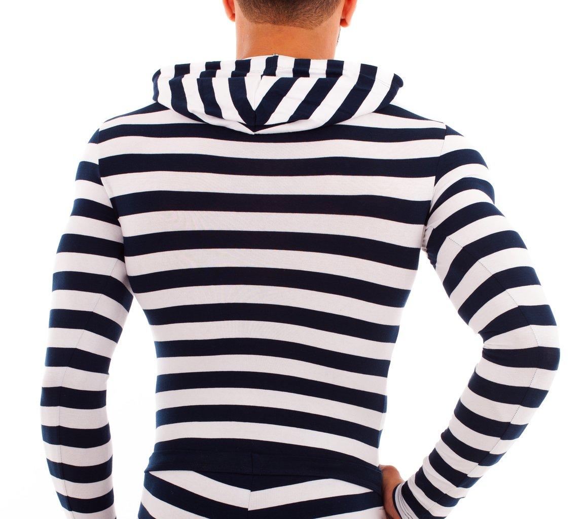 Matrosen Kapuzen-Shirt marine-weiss