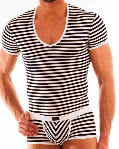 Stripes Shirt white-black