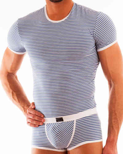 Stripes Shirt blue-gray-white
