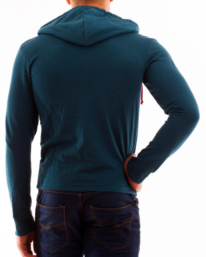 Kapuzenjacke Sweater petrol RV rot