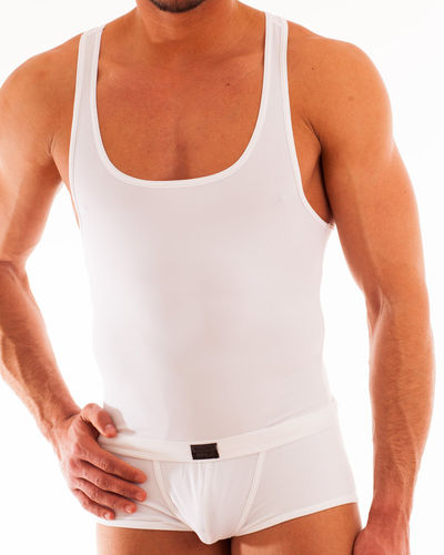Micro-Basic Muscle Shirt white