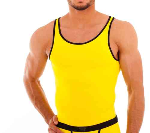 Micro-Basic Athletik Shirt yellow-black
