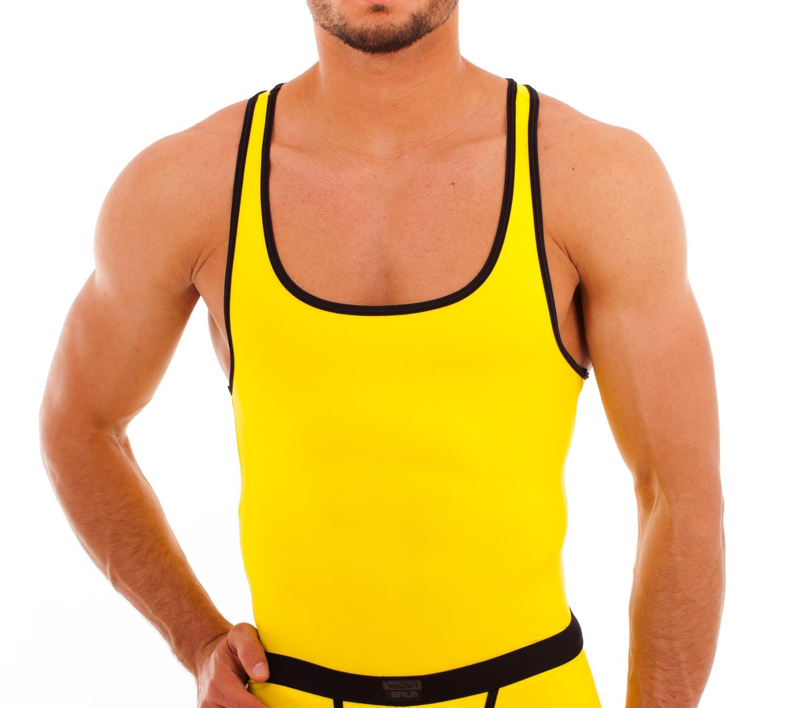 Micro-Basic Muscle Shirt yellow-black