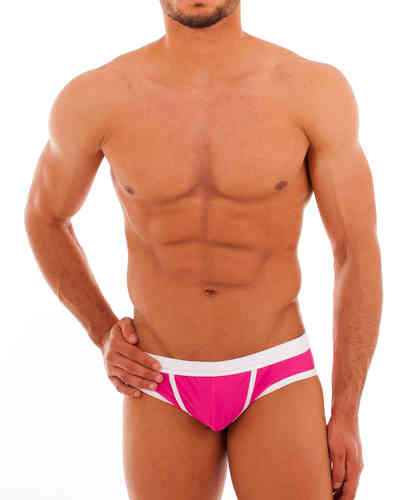 Bade Action Slip pink-weiss
