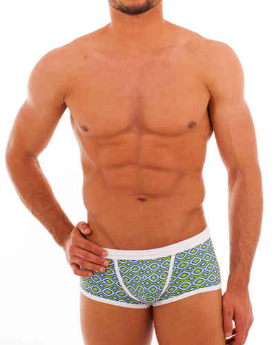 Swimwear Rhomben Action Pant oliv-blue