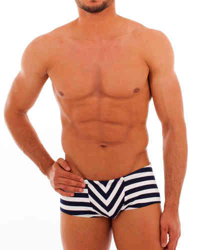 Swimwear Stripes Pant marine-white