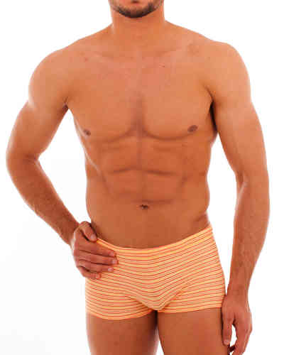 Swimwear Pant Stripes yellow-red