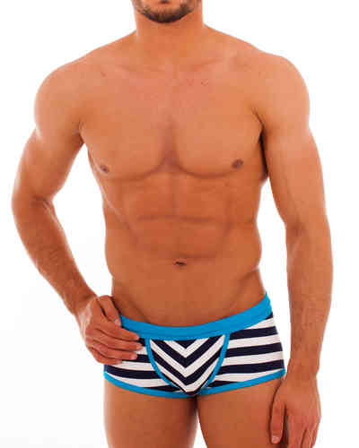 Swimwear Matrosen Action Pant marine-white-cyan