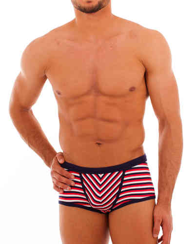 Swimwear Stripes Action Pant marine-red