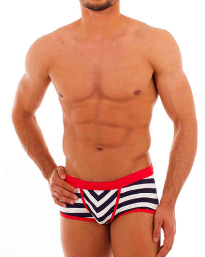 Swimwear Matrosen Action Pant marine-weiss-rot