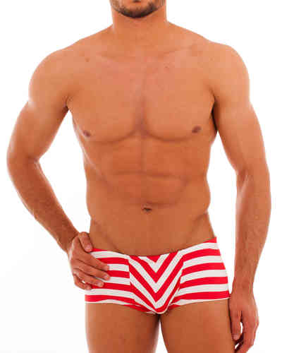 Swimwear Stripes Pant red-white