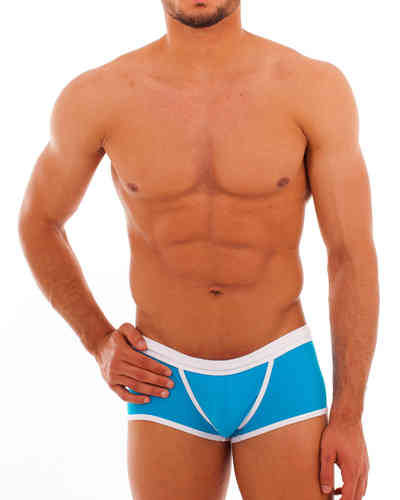 Swimwear Action Pant cyan-white