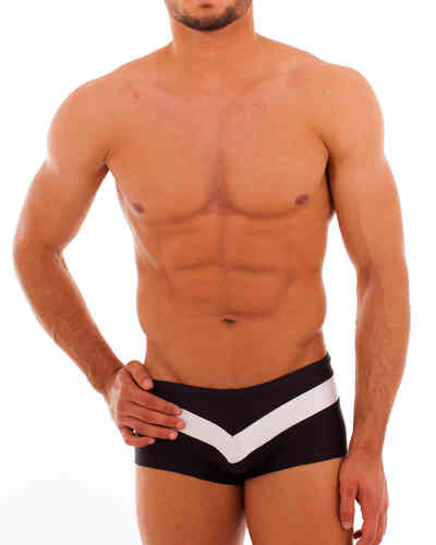 Swimwear Pant Stripes black-white