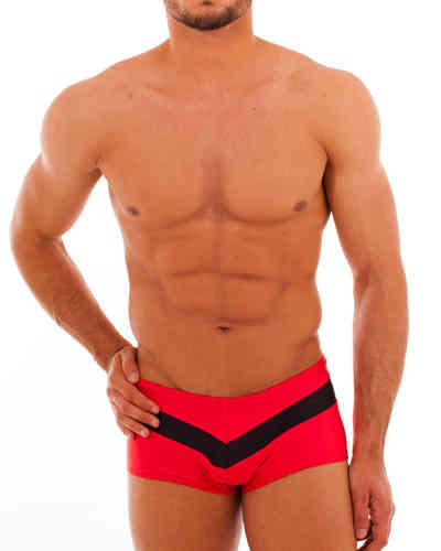 Swimwear Pant Stripes red-black