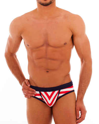 Swimwear Matrosen Action Slip red-white-blue