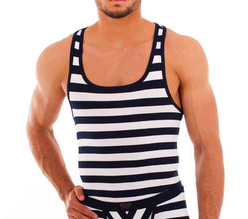 Matrosen Muscle Shirt marine-white