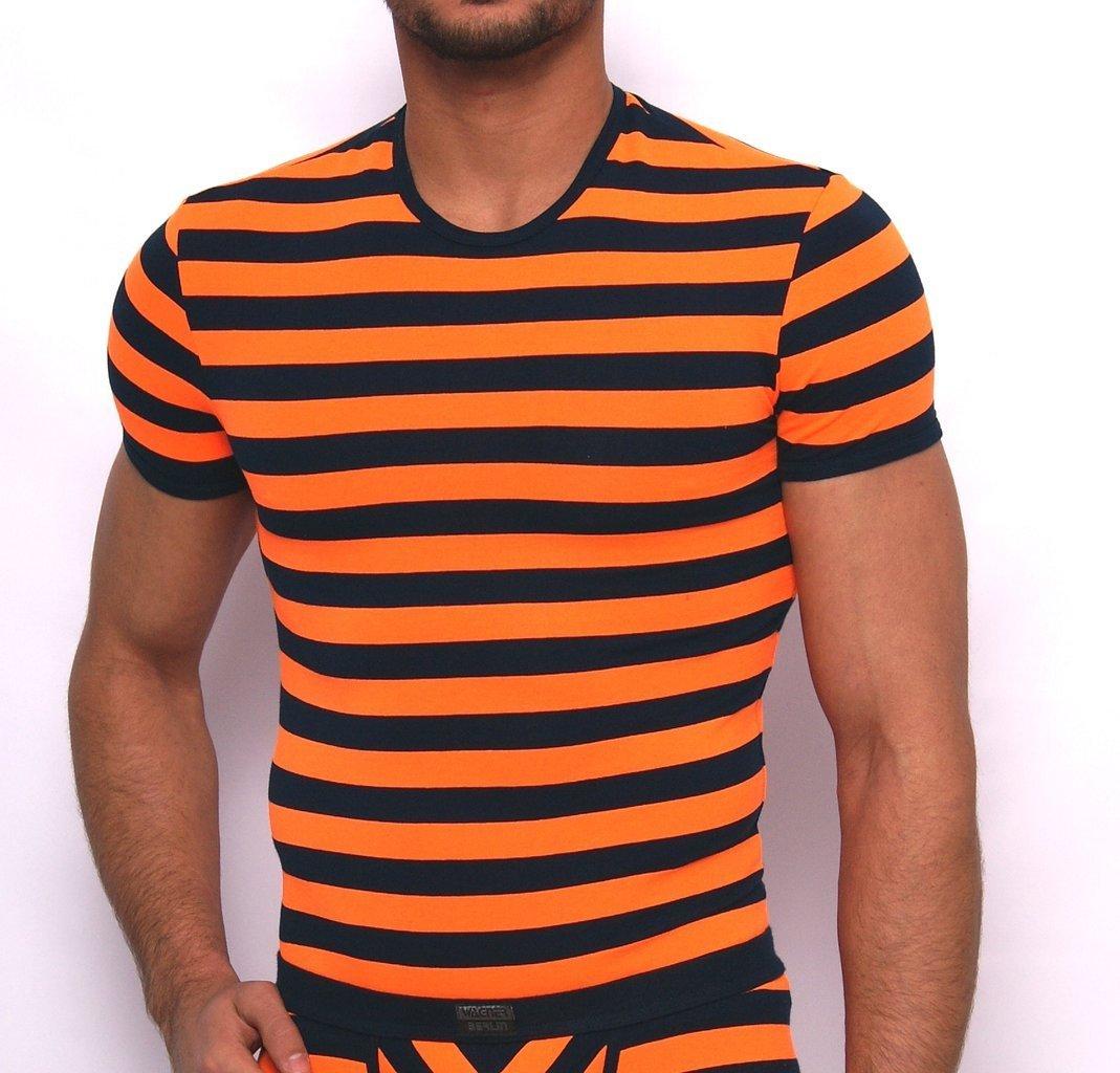 Matrosen roundneck-Shirt marine-neonorange