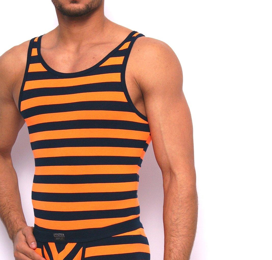 Matrosen Athletic Shirt marine-neonorange
