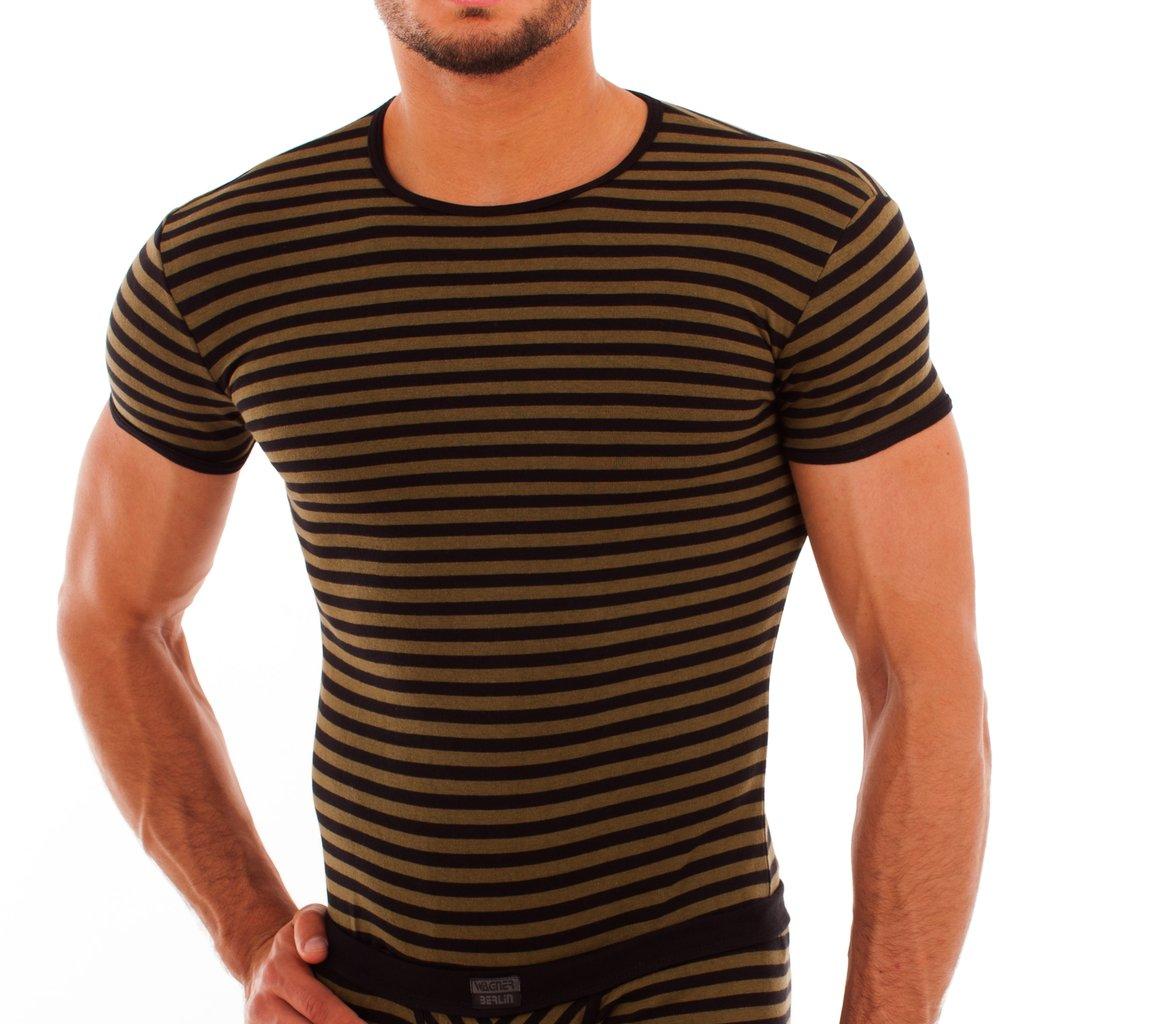 Cotton Stripes Shirt olive-black