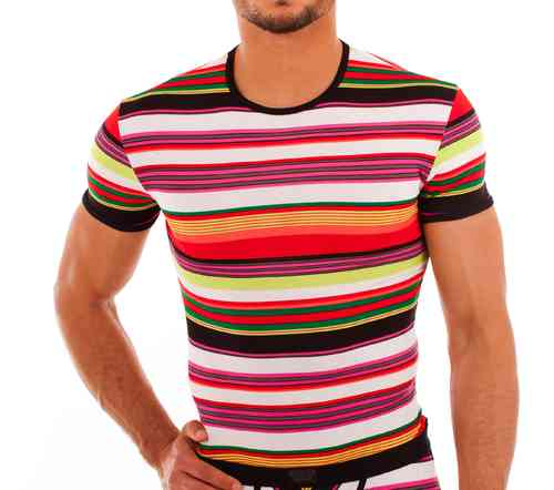 Stripes RH Shirt black-red-green