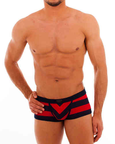 Matrosen Action Pant marine-red wide