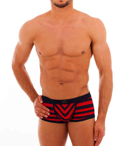 Matrosen Action Pant marine-red narrow