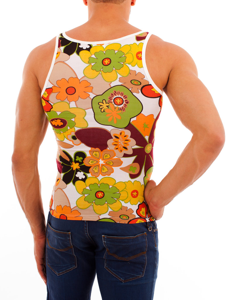 Flowers Athletic Shirt brown-green