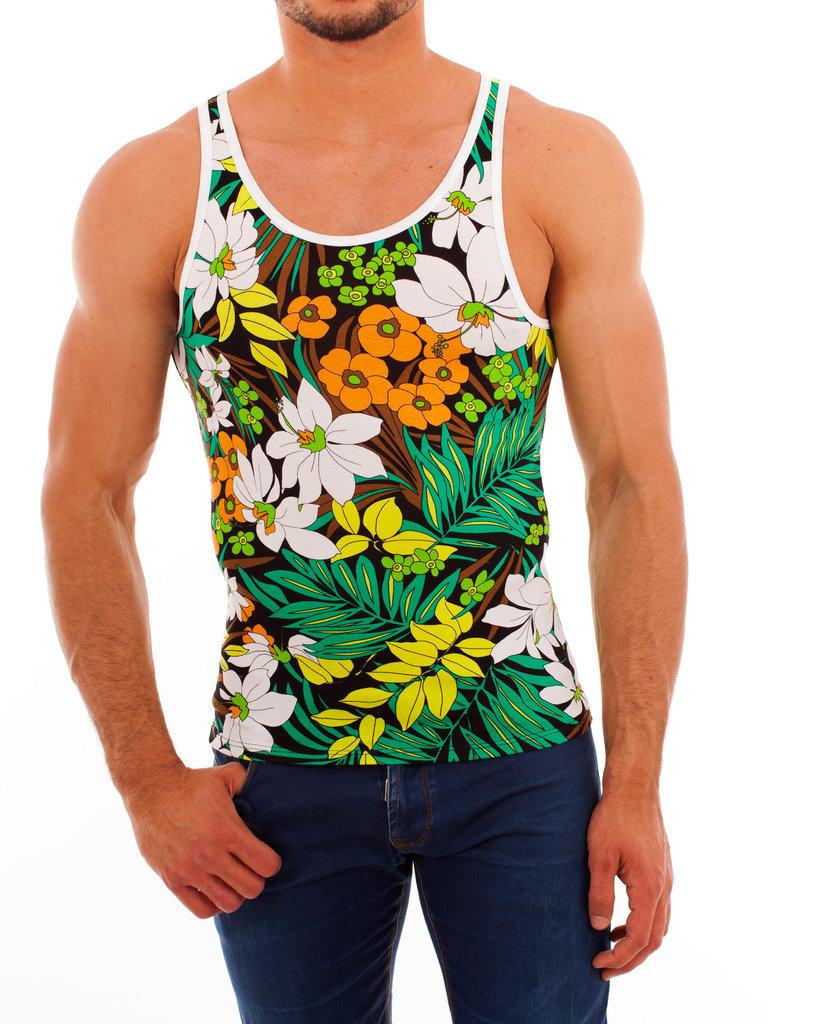 Flowers Athletic Shirt orange-weiss