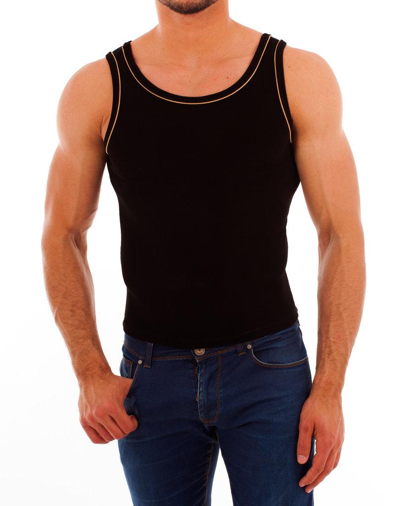 Paspel Athletic Shirt black-orange