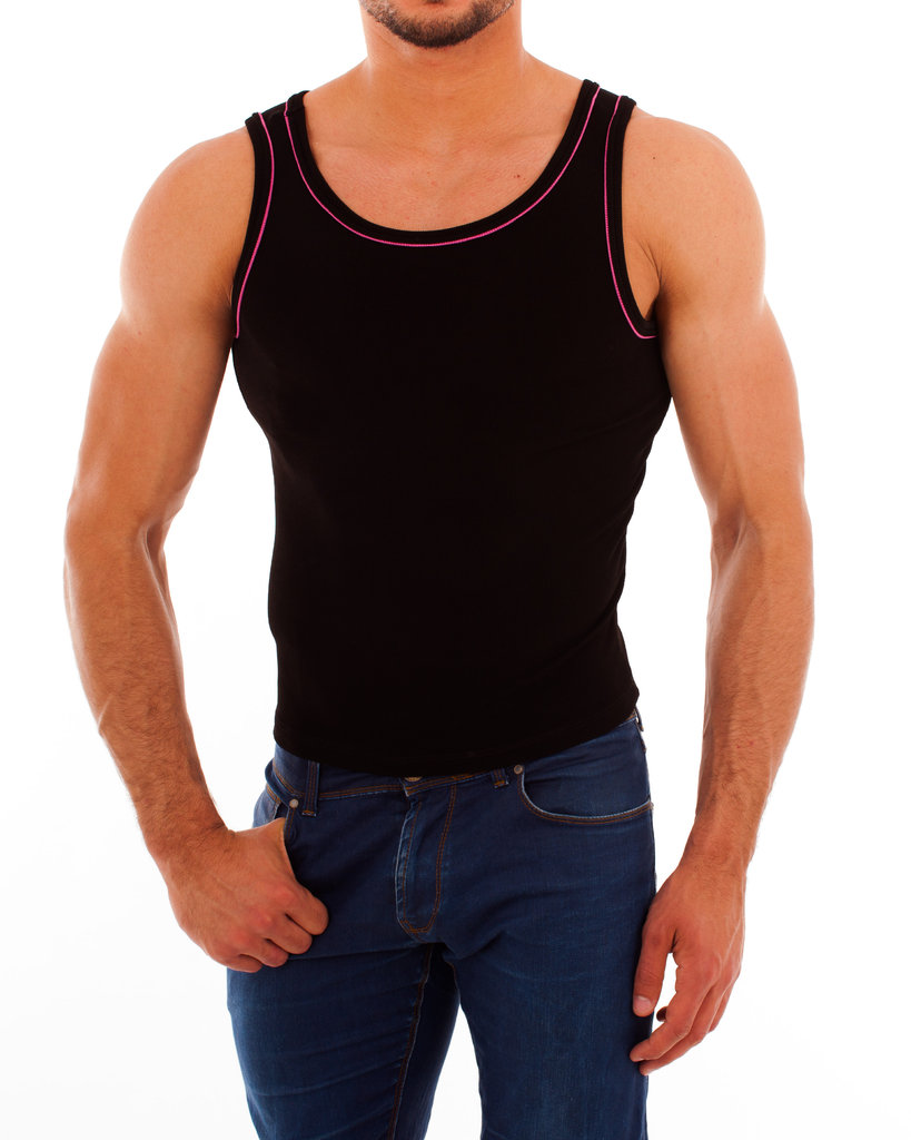 Paspel Athletic Shirt black-pink