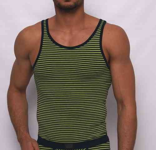 Stripes athletic shirt olive-marine