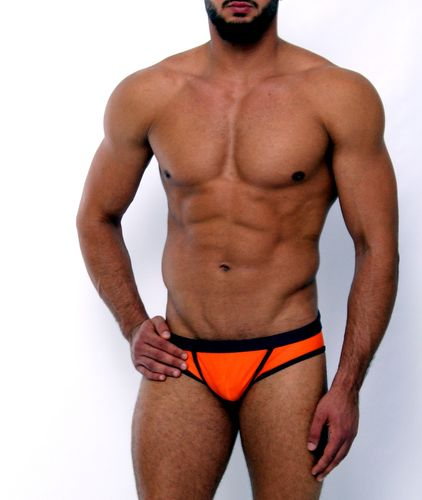 Swimwear action slip orange-marine